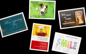 Dentrix dental reminder postcards