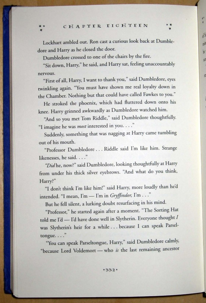 Harry Potter Chamber p 332
