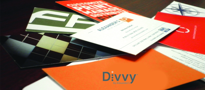 Printed custom business cards with divvy divvy colourmoves
